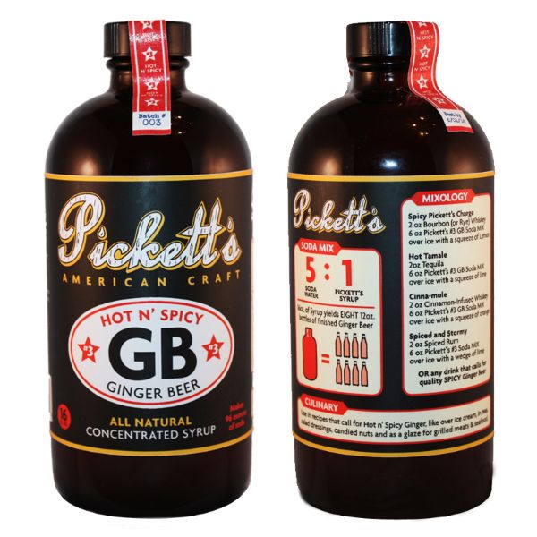 Pickett's #3 Hot & Spicy Ginger Beer Syrup