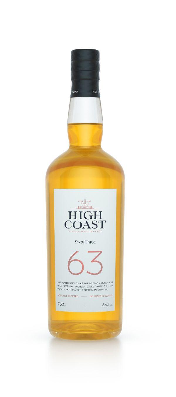 High Coast 63 Peated Single Malt Whiskey