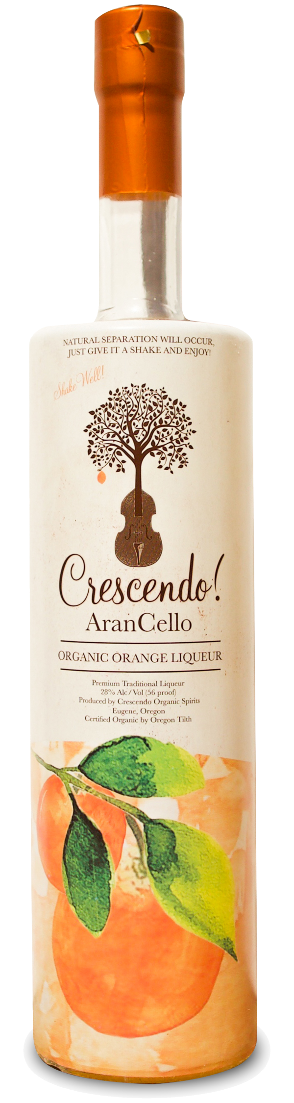 Crescendo Arancello Organic Orange Liqueur