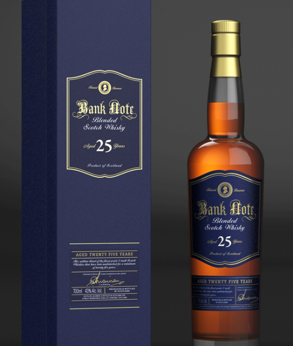 Bank Note Aged 25 Years Blended Scotch