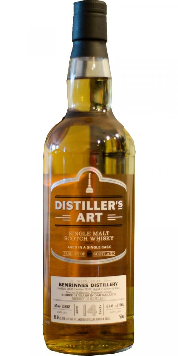 Distiller's Art Benrinnes 2002 14 Yr Sherry Cask Single Malt
