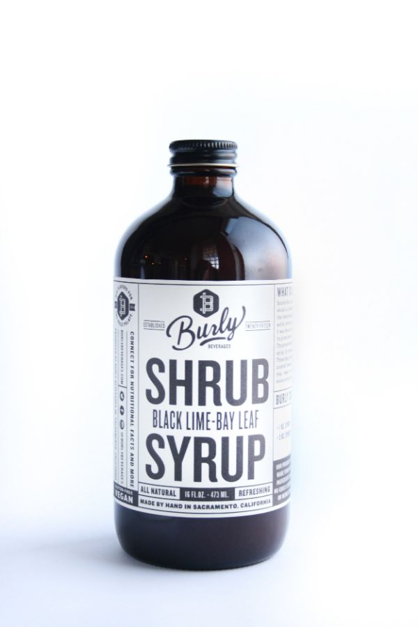 Burly Beverages Black Lime Bay Leaf Shrub Syrup