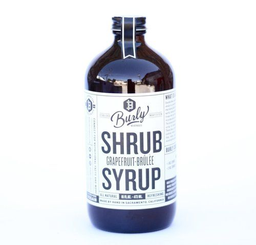 Burly Beverages Grapefruit Brulee Shrub Syrup