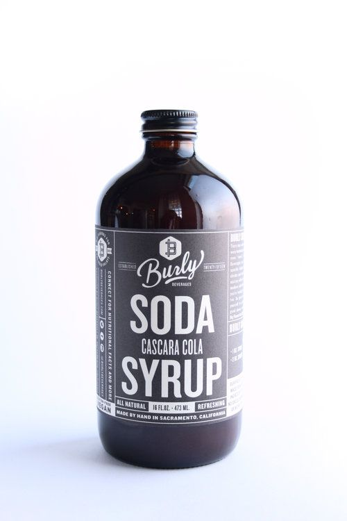 Burly Beverages Cascara Cola Soda Syrup