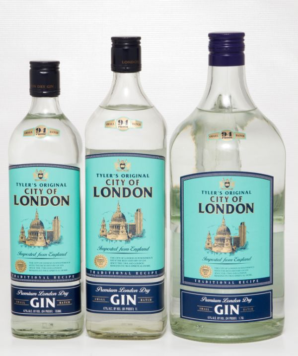 Tyler's City of London Imported Dry Gin