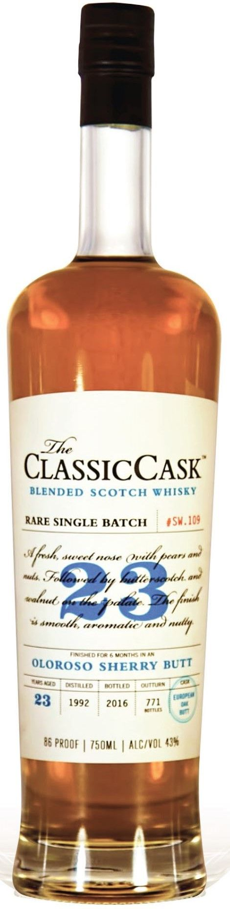 Classic Cask 23 Yr Oloroso Sherry Butte Finished Single Malt Scotch