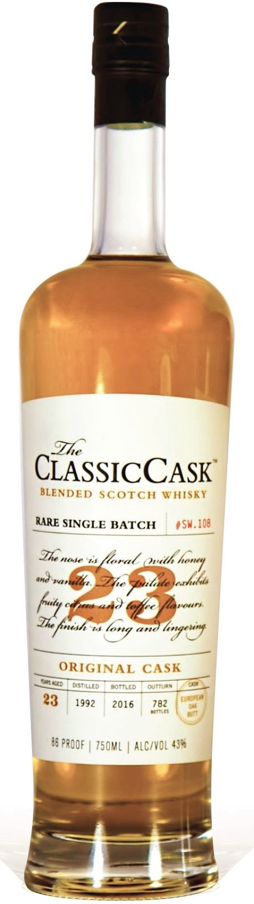 Classic Cask 23 Yr Original Cask Single Malt Scotch