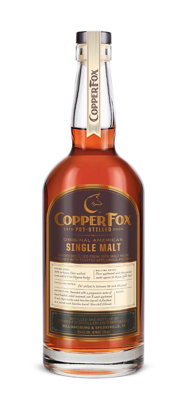 Copper Fox Single Malt Whiskey