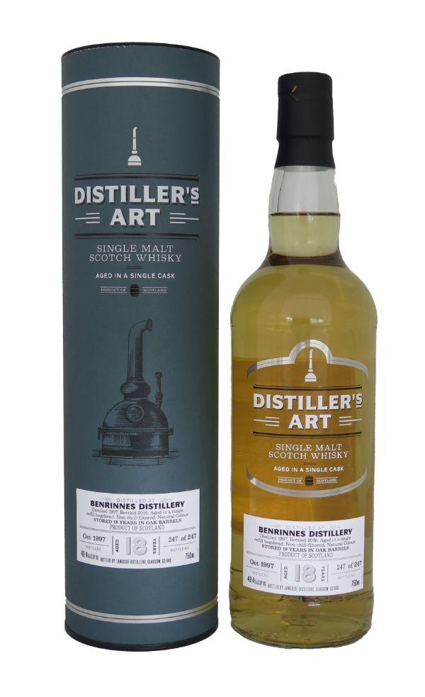 Distiller's Art Benrinnes 1997 18 Yr Sherry Cask Single Malt