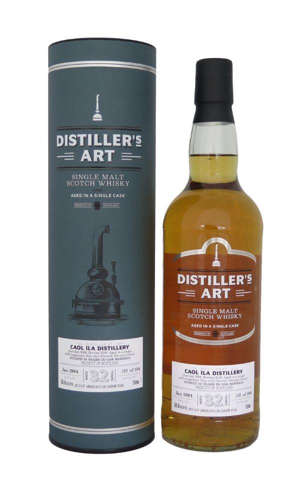 Distillers Art Caol Ila 1984 32 Yr Scotch Whiskey