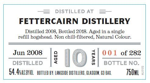 Distiller's Art Fettercairn 2008 10 Yr Single Malt Scotch