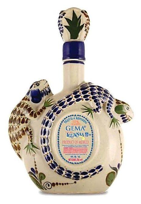 Gema Iguanas Ceramic Reposado Tequila