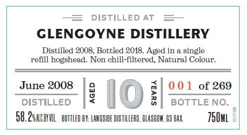 Distiller's Art Glengoyne 2008 10 Yr Single Malt Scotch