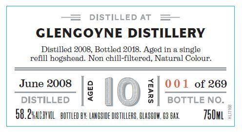 Distiller's Art Glengoyne 2008 10 Yr Single Malt Scotch