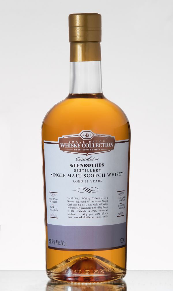 Small Batch Whiskey Collection Glenrothes 21 Yr Single Malt Scotch