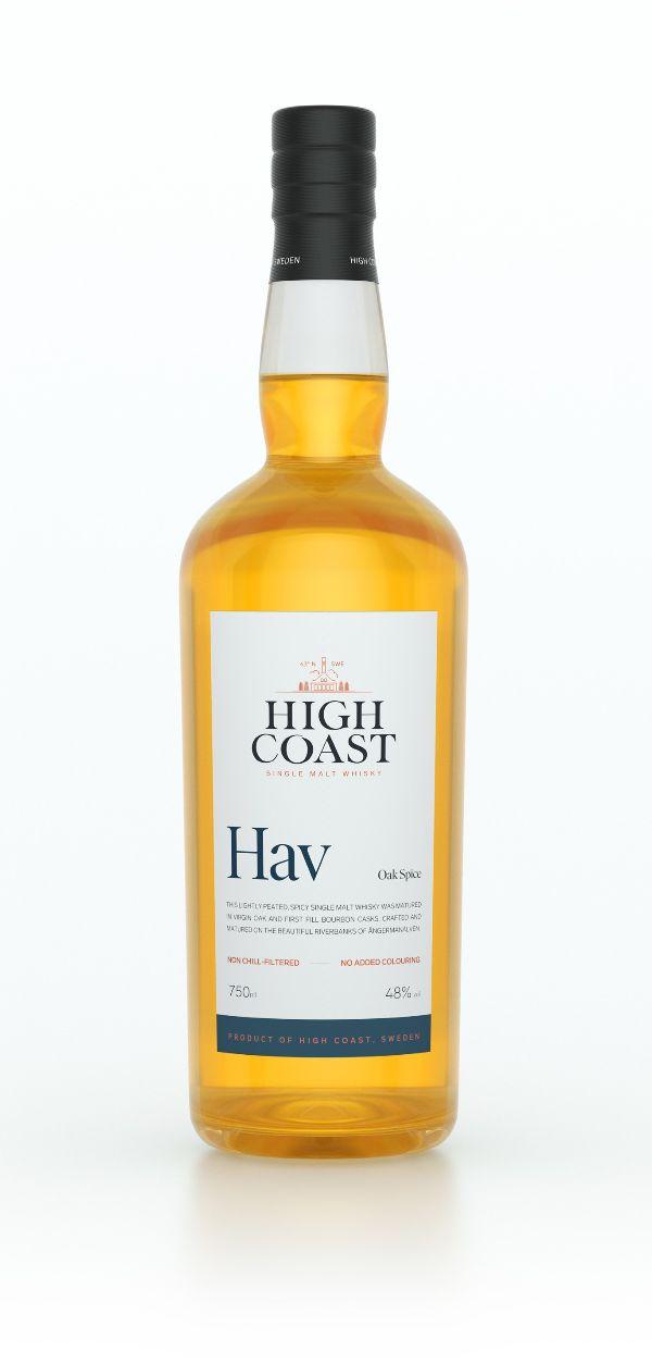 High Coast HAV Peated Single Malt Whiskey