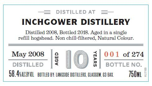 Distiller's Art Inchgower 2008 10 Yr Single Malt Scotch