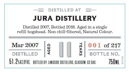 Distiller's Art Jura 2007 11 Yr Single Malt Scotch