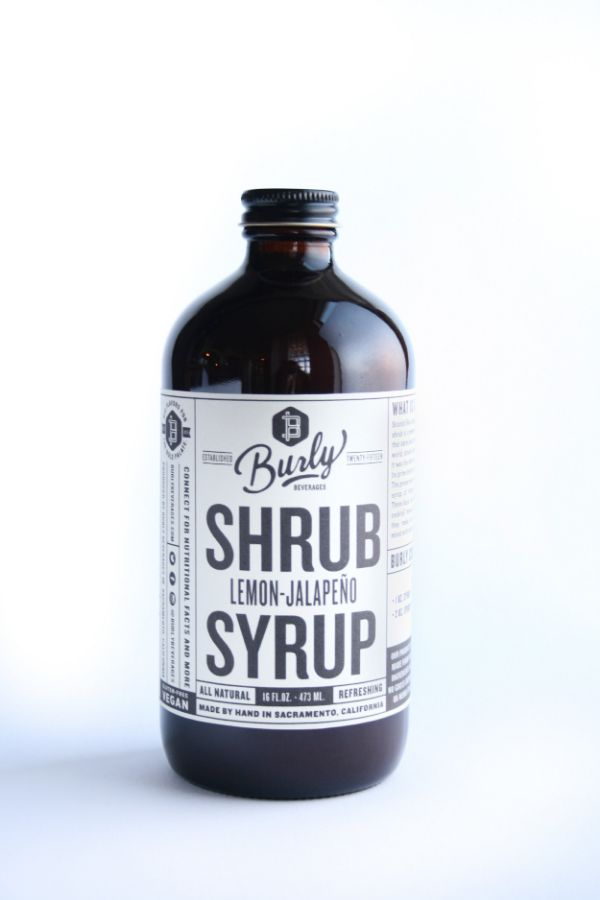 Burly Beverages Lemon Jalapeno Shrub Syrup
