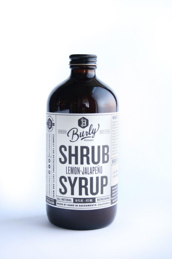 Burly Beverages Lemon Jalapeno Shrub Syrup