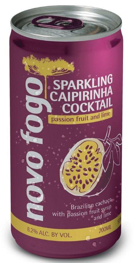 Novo Fogo Passion Fruit Sparkling Caipirinha Cans