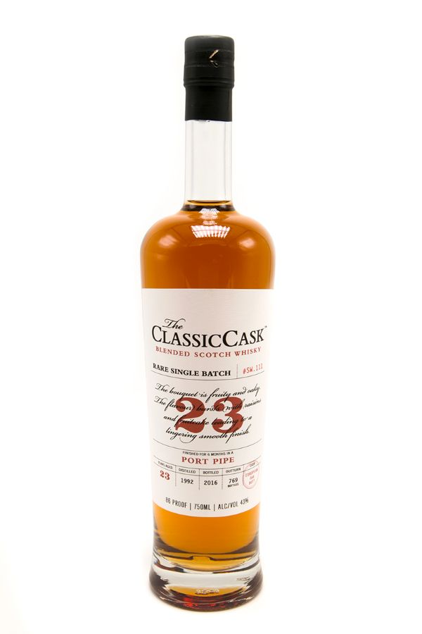 Classic Cask 23 Yr Port Pipe Finished Single Malt Scotch