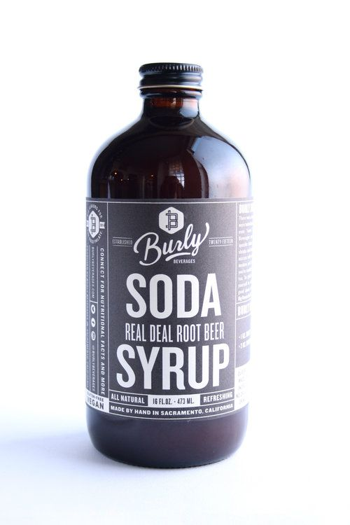 Burly Beverages Real Deal Root Beer Soda Syrup