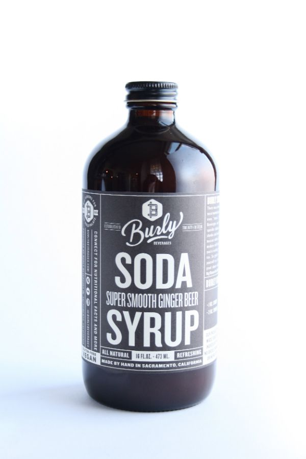 Burly Beverages Super Smooth Ginger Beer Soda Syrup