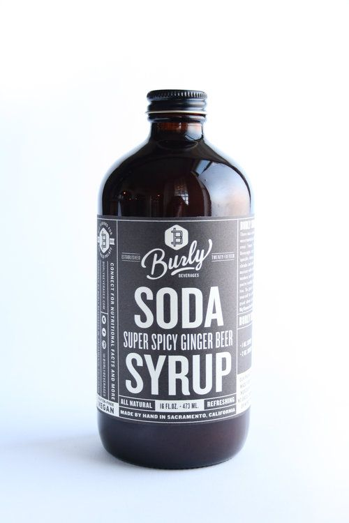 Burly Beverages Super Spicy Ginger Beer Soda Syrup