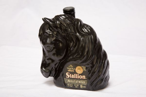 Stallion Anejo Ceramic Tequila