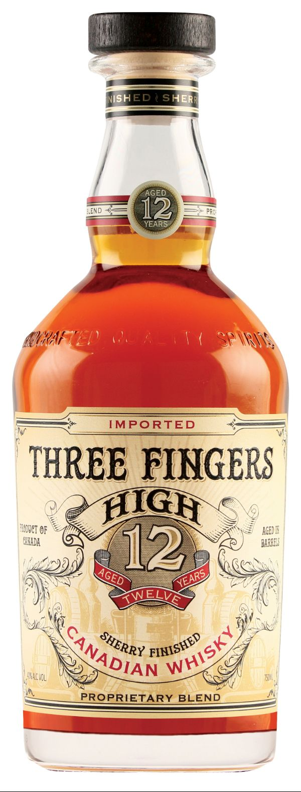 Three Fingers High 12 Yr Canadian Whiskey
