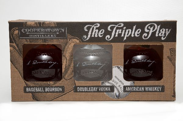 Cooperstown Baseball Bourbon Triple Play 3-Pack