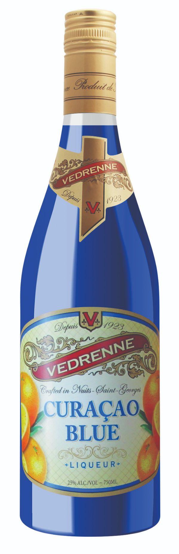 Vedrenne Blue Curacao Liqueur