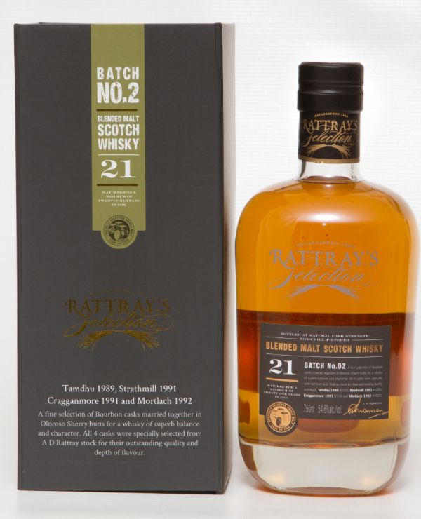 A.D. Rattray 21 Yr Special Selection Batch No. 2 Single Malt