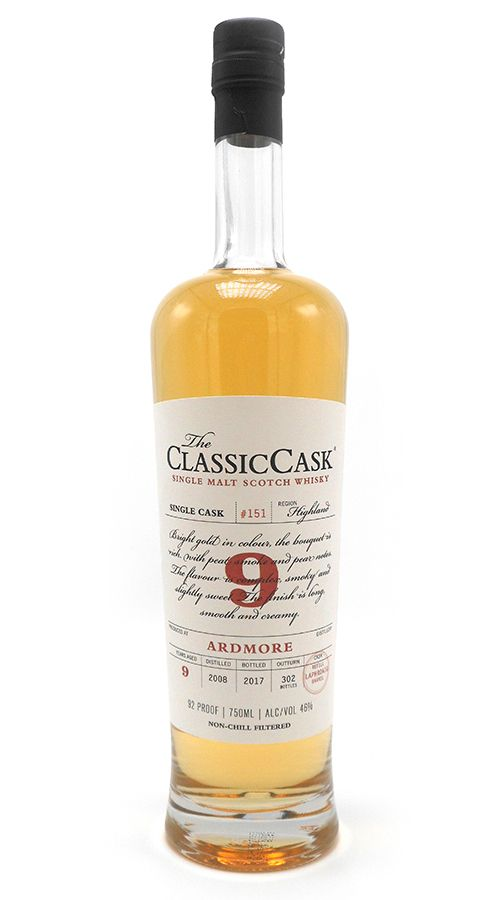 Classic Cask Ardmore 2008 9 Yr Single Malt