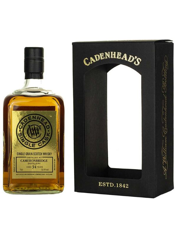 WM Cadenhead Cameronbridge 1984 34 Yr #19292 Single Malt