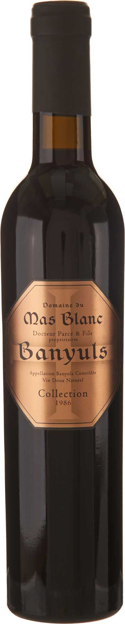 Domaine du Mas Blanc Banyuls Collection 1986