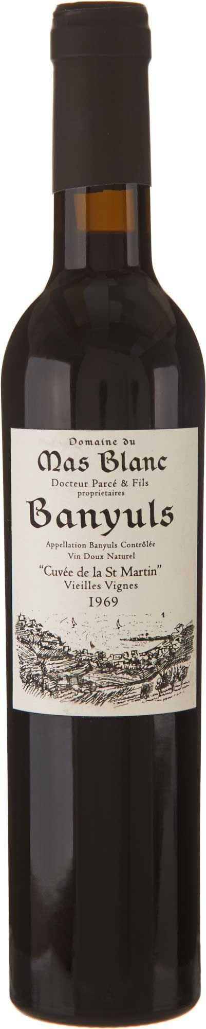 Domaine du Mas Blanc Banyuls Cuvee St. Martin 1969