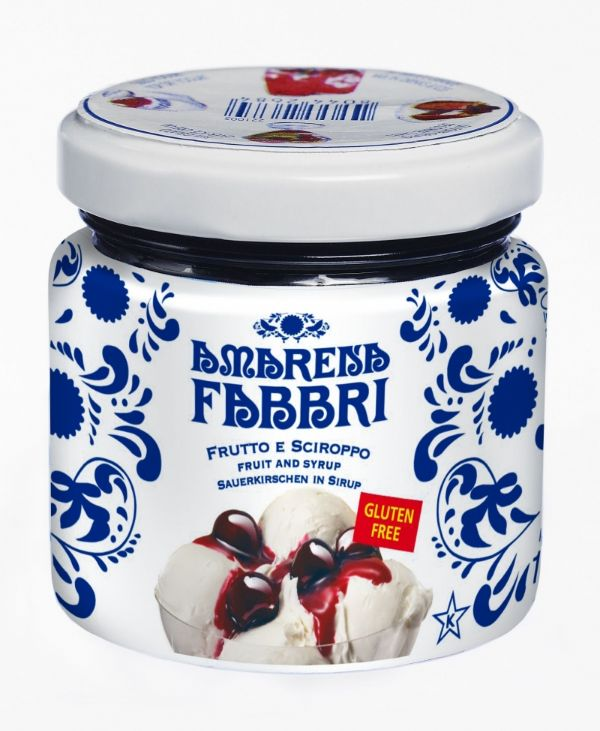 Fabbri Amarena Cherries in Syrup Jar 4.25oz