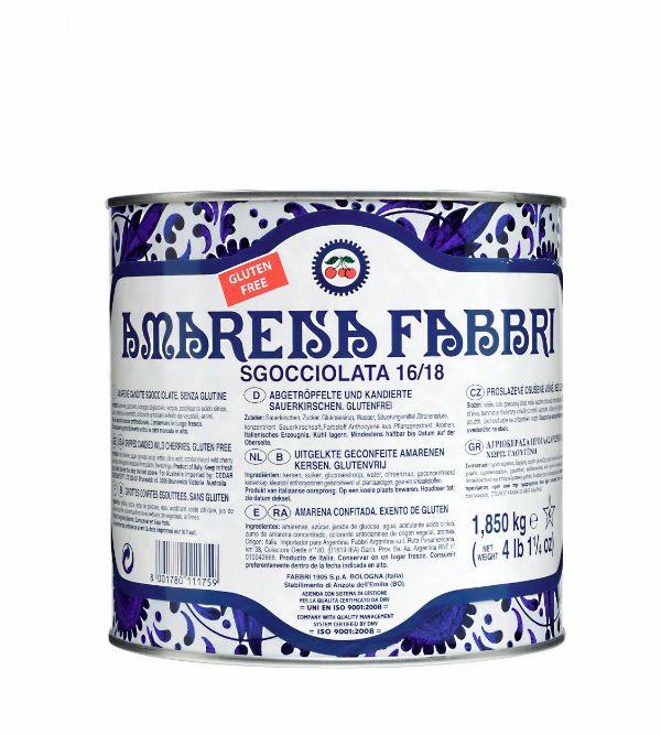 Fabbri Amarena Cherries Drained Tin 65oz