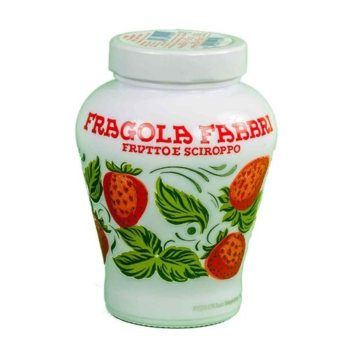 Fabbri Fragola Strawberry Opaline Ceramic Vase