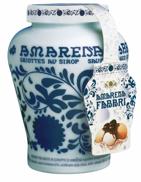 Fabbri Amarena Cherries Opaline Ceramic Vase