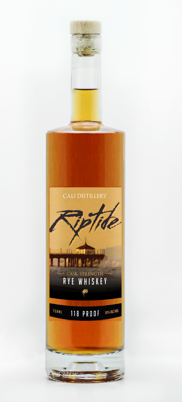 CALI Riptide Cask Strength Rye Whiskey