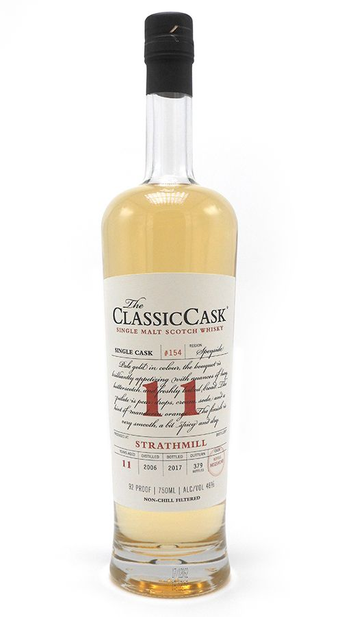 Classic Cask Strathmill 2006 11 Yr Single Malt