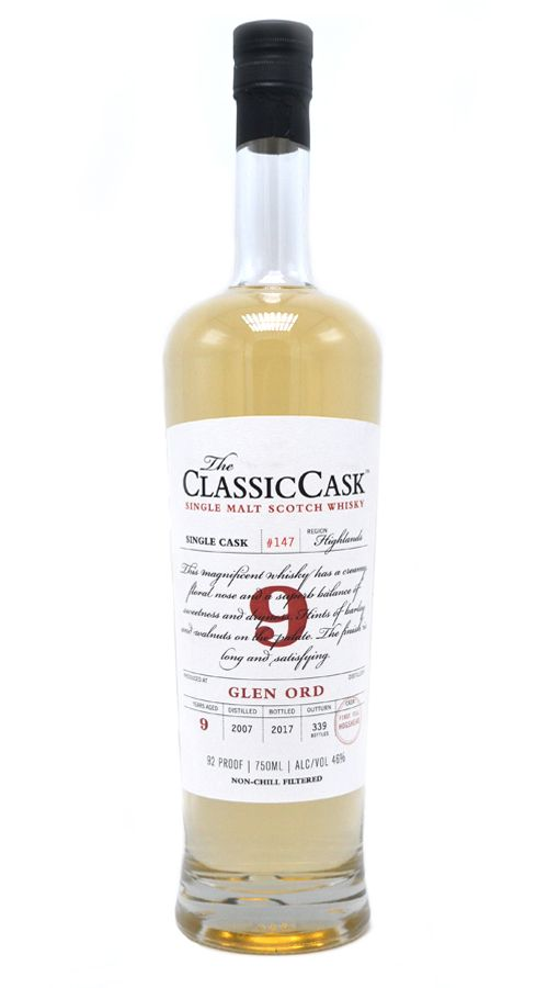 Classic Cask Glen Ord 2007 9 Yr Single Malt