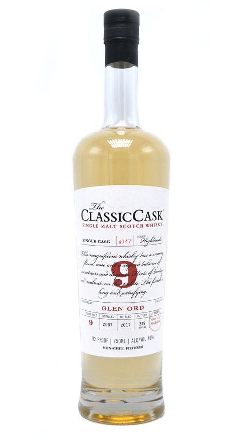 Classic Cask Glen Ord 2007 9 Yr Single Malt