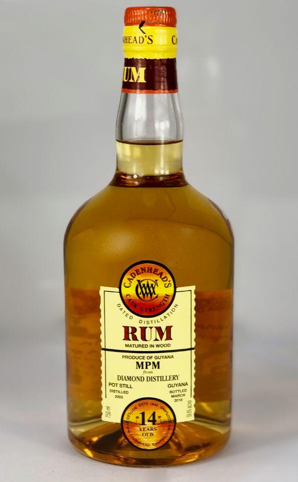 WM Cadenhead Diamond Guyana 14 Yr Rum Cask Strength