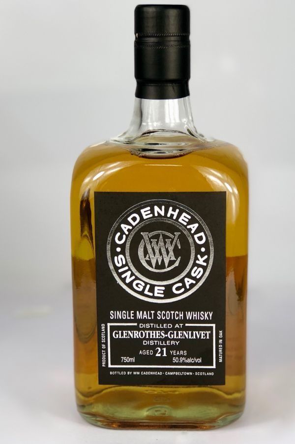 WM Cadenhead Glenrothes 21 Yr Single Malt